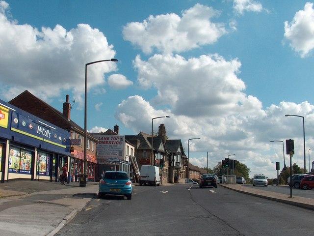"View towards ""The Pheasant"", Sheffield Lane Top"