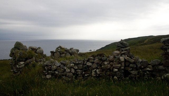 Ruin near Port an Eas, Islay