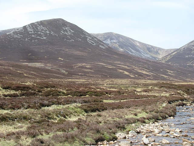 Beinn a' Ghlo and Allt Girnaig