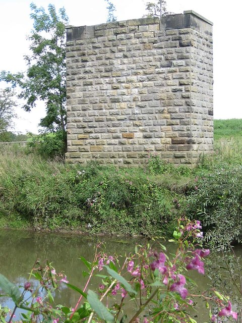 Redundant bridge pier by the River Derwent