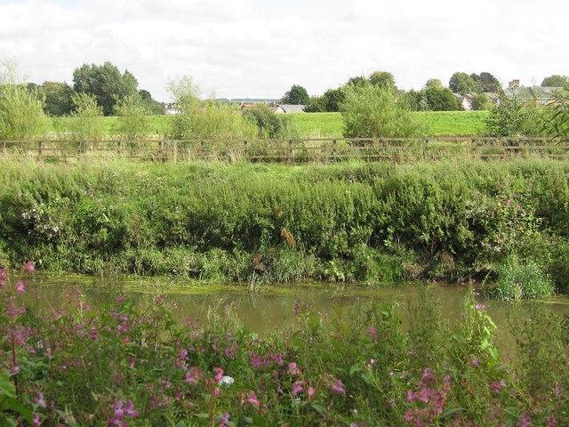 Flood defences across the Derwent