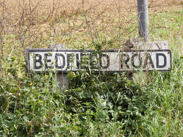 Bedfield Road sign