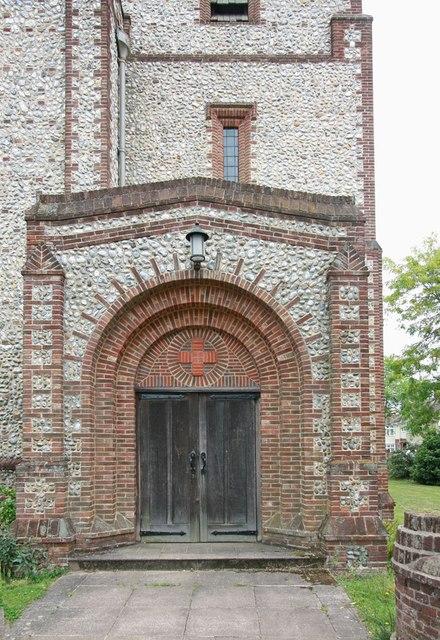 St Alban, Lakenham - Doorway