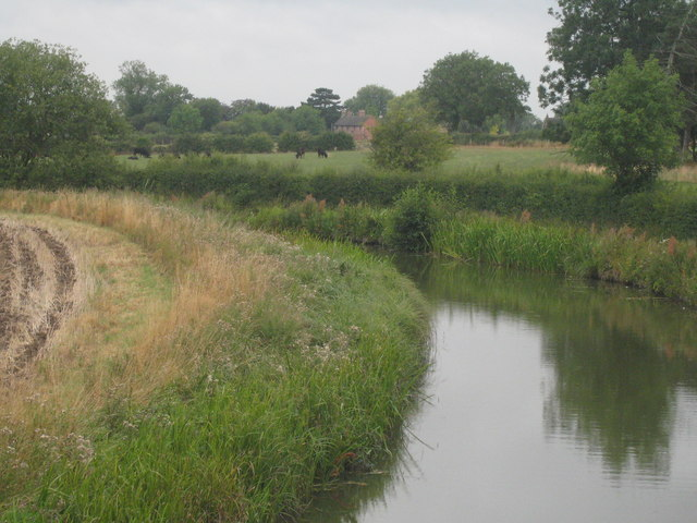 Ashby de la Zouch Canal from bridge at Gopsall Wharf