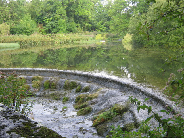 Spillway for fish pond on the River Lathkill