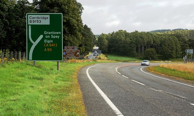 Junction on the A95
