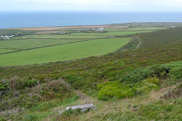 Farmland below St Agnes Beacon