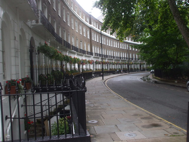 Cartwright Gdns, London, looking north