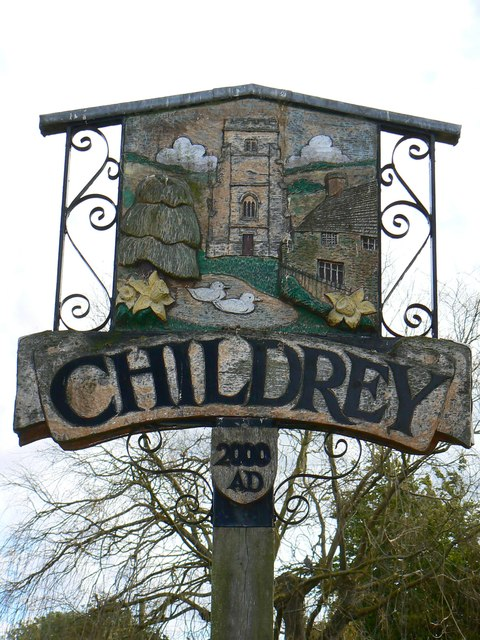 North face of the Village Sign, Childrey