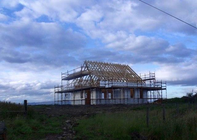 Easter Jawcraig, house under construction
