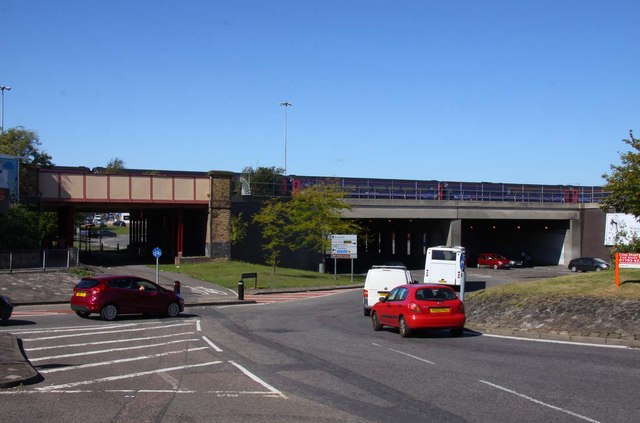 The Transfer Bridges over County Road