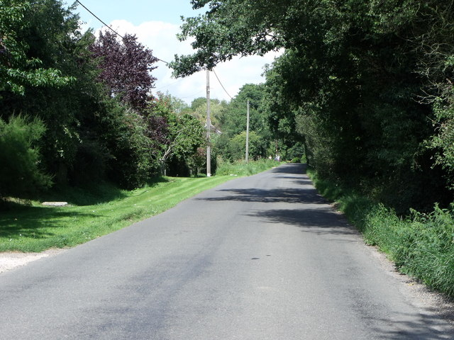 Minor road at Buckham Hill, East Sussex