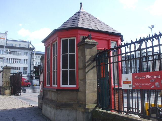 Mount Pleasant sorting office, vehicle entrance