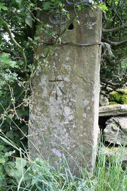 Benchmark on gatepost at Gastack Beck Bottom