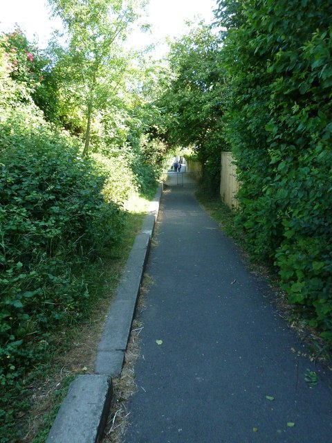 Mid section of the path from Coach Hill to West Street