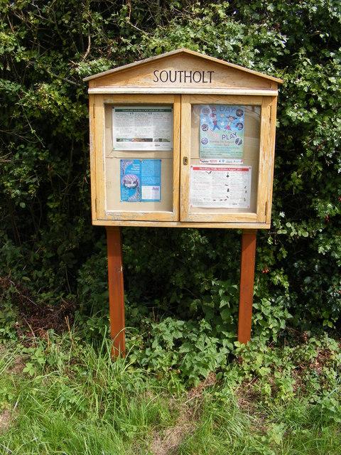 Southolt Village Notice Board