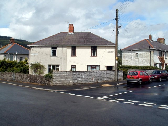 Corner of Fothergill Road and Cedar Street, Cwmgwrach