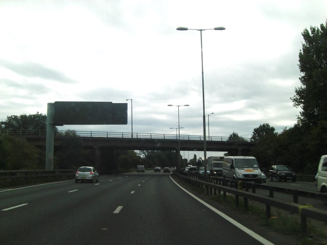 M4 bridge from carries B376