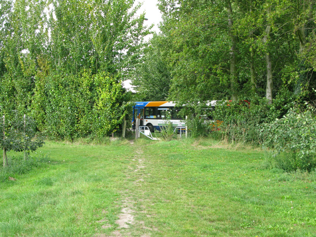 Bridleway at Biller's Bush where it meets the A258