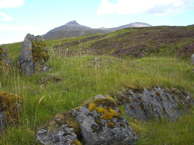 Limestone outcrops above Achmore