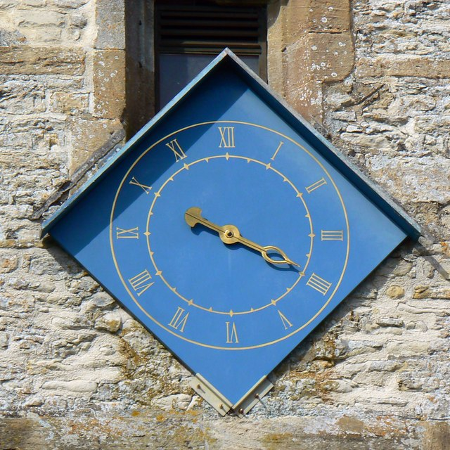 Clock, St Mary's Church, Childrey
