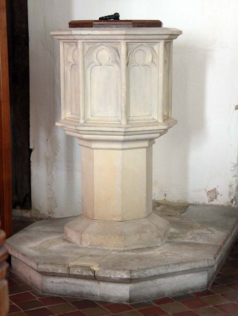 St Mary, Rushall - Font