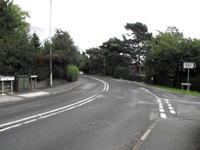 Road junction in Mossley