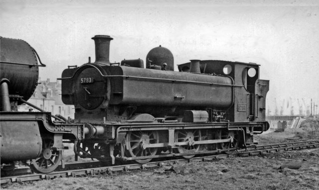 GW '5700' 0-6-0PT at Swansea East Dock Shed