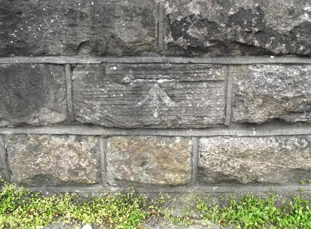 Cut mark on the bridge