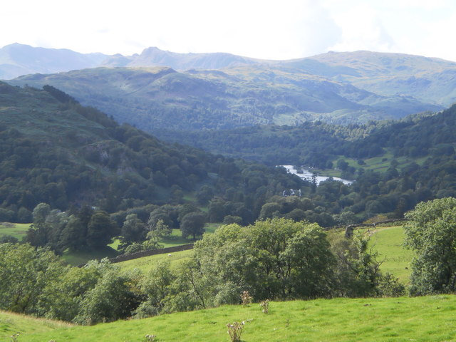 Bowfell, the Langdale Pikes and Sergeant Man