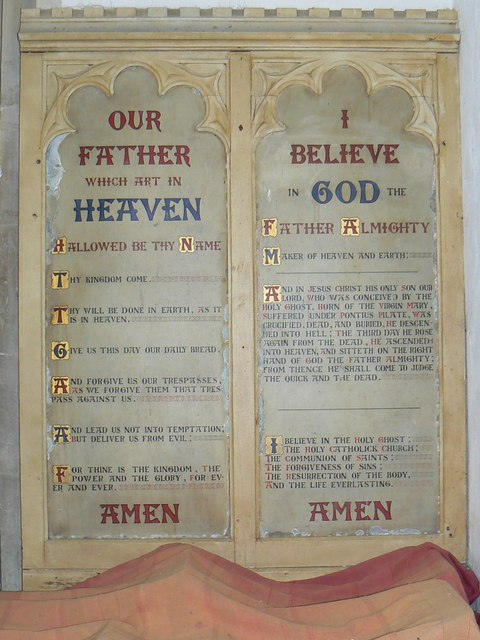 Lord's Prayer, St Mary's Church, Childrey