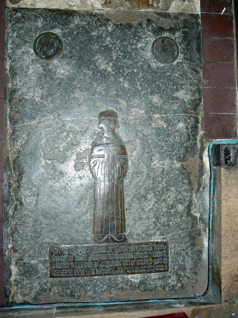 Monumental brass (3 of 5) St Mary's Church, Childrey
