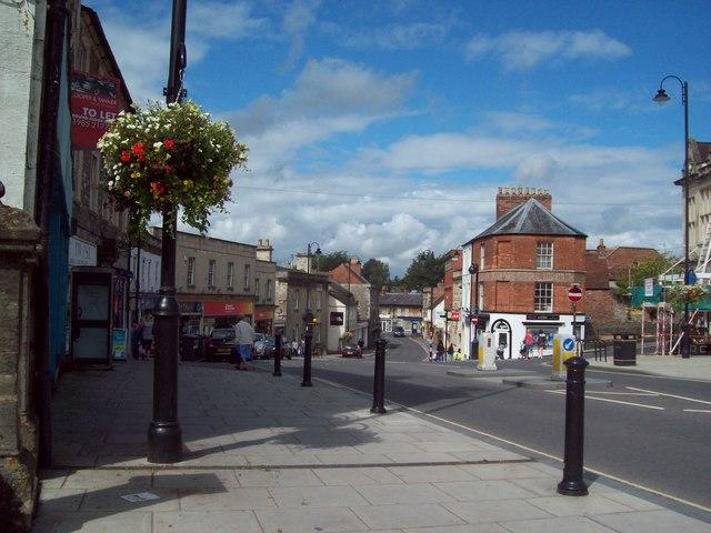High Street in Warminster