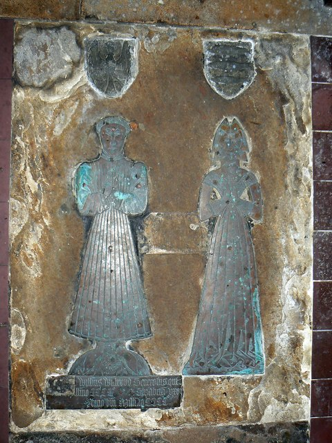 Monumental brass (4 of 5) St Mary's Church, Childrey