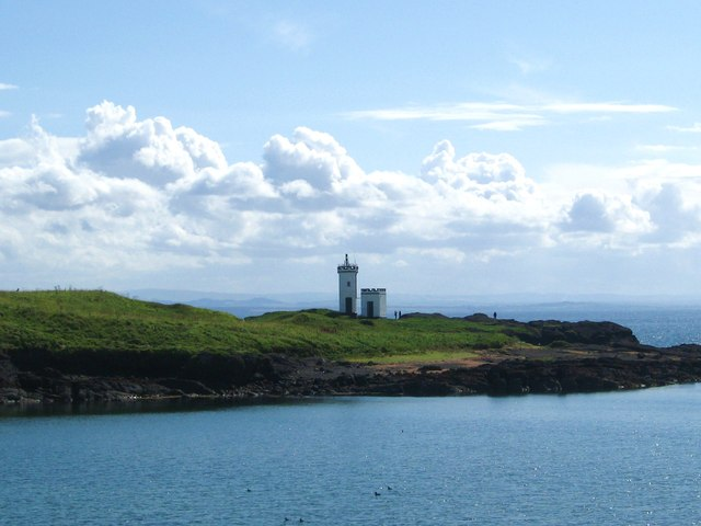 The lighthouse at Elie Ness in the East Neuk of Fife