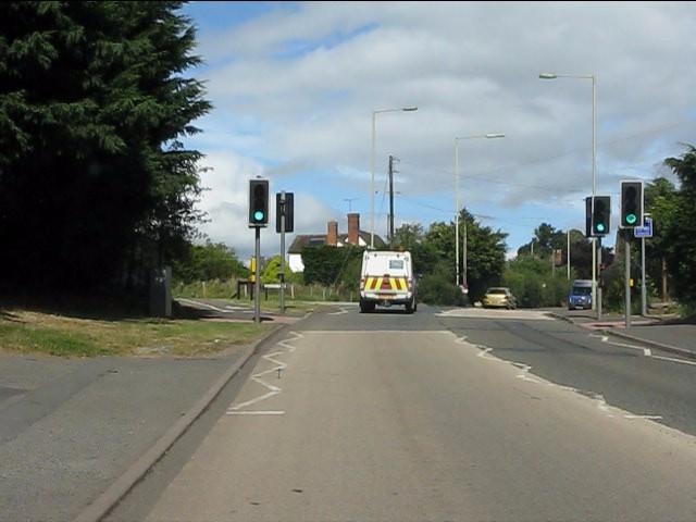 A4117 entering Rockgreen (Ludlow)