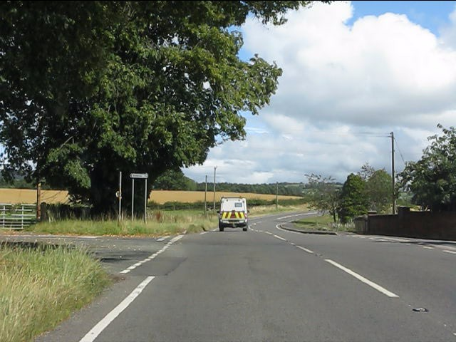 A4117 at the junction for Bitterley
