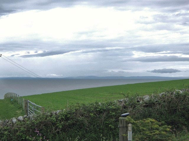 Looking across the sea to Northern Ireland