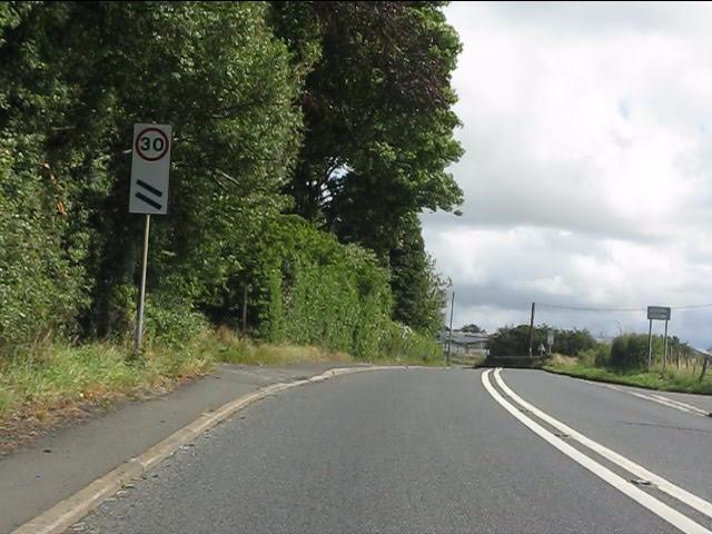 A4117 approaching Cleehill