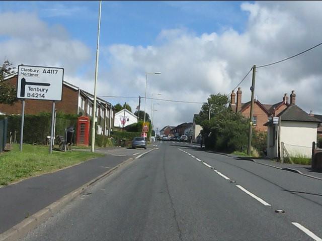 A4117 in Cleehill