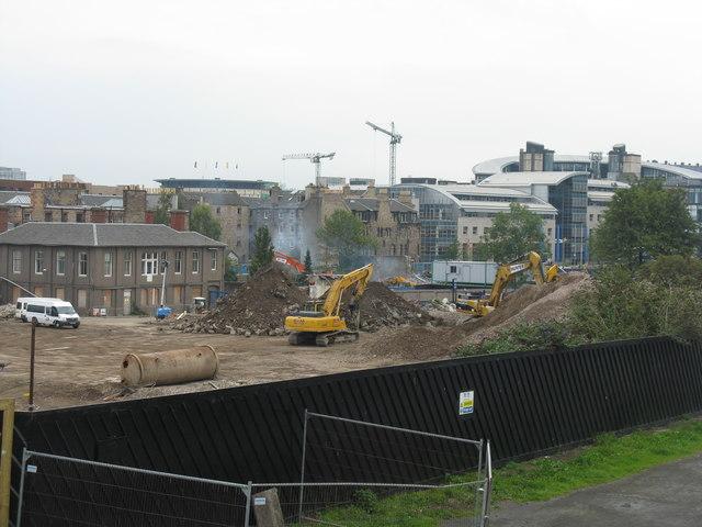Scottish & Newcastle Brewery demolition at Fountainbridge