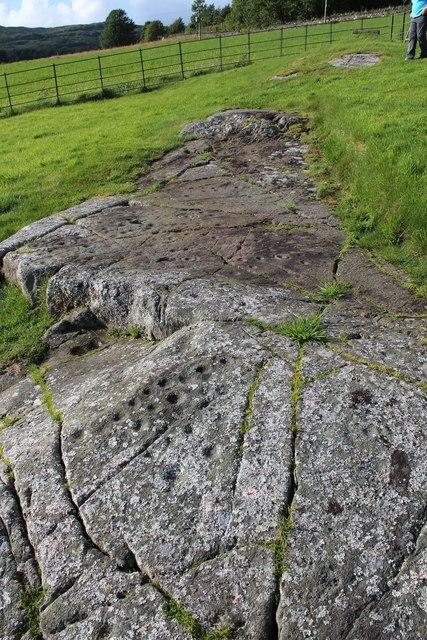 Cup & ring marked rock, Baluachraig
