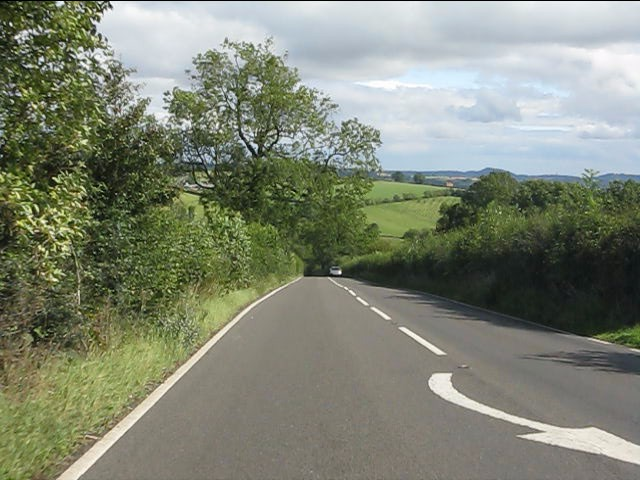 A4117 descending Hopton Bank
