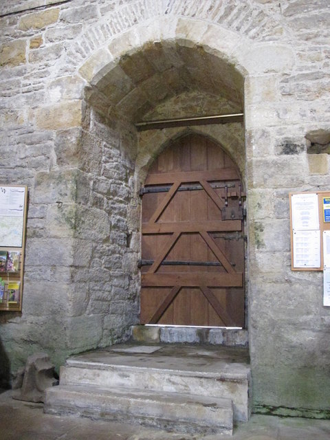 The Church of St. Mary The Virgin - door to the tower