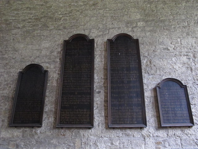 The Church of St. Mary The Virgin - wall boards