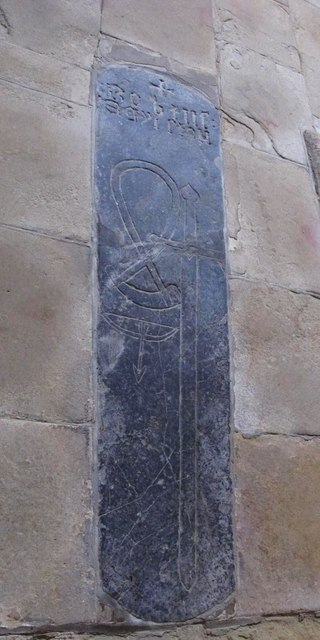 The Church of St. Mary The Virgin - mediaeval tombstone