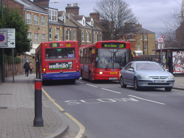 Buses on Acton Lane, Harlesden
