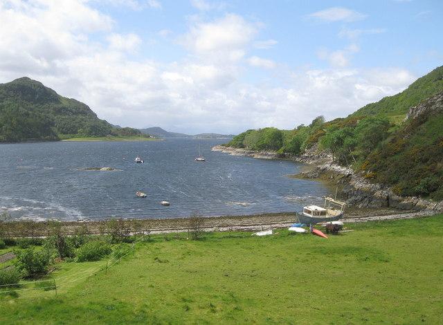 Castle Bay and Loch Carron