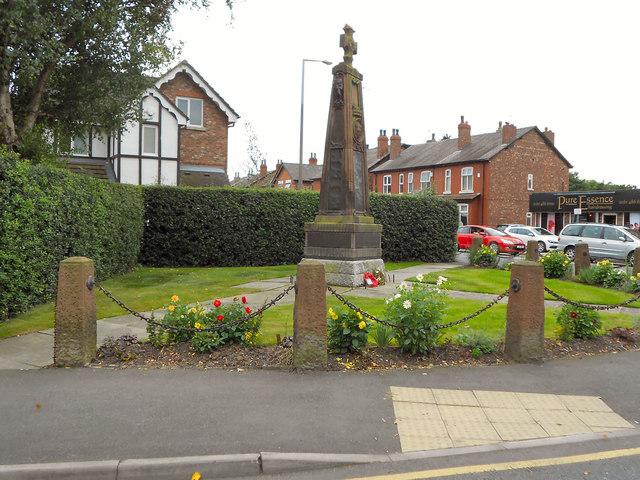 Cheadle Hulme War Memorial and Memorial Garden