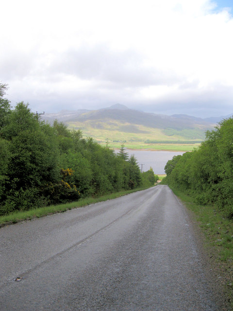 Steep hill to Loch Carron